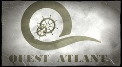 Логотип Квест Атлант - огранизатора квестов в реальности, живых квестов - вырбраться из комнаты в городе Москва