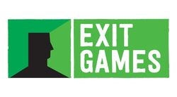 Логотип ExitGames - огранизатора квестов в реальности, живых квестов - вырбраться из комнаты в городе Москва