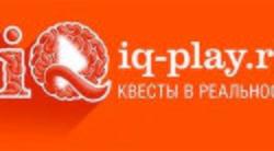 Логотип IQ Play - огранизатора квестов в реальности, живых квестов - вырбраться из комнаты в городе Москва