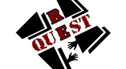 Логотип ReQuest - огранизатора квестов в реальности, живых квестов - вырбраться из комнаты в городе Москва
