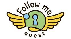 Логотип Follow Me Quest - огранизатора квестов в реальности, живых квестов - вырбраться из комнаты в городе Москва