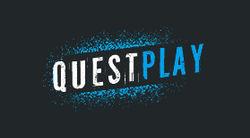 Логотип QuestPlay - огранизатора квестов в реальности, живых квестов - вырбраться из комнаты в городе Москва