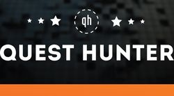 Логотип QUESTHUNTER - огранизатора квестов в реальности, живых квестов - вырбраться из комнаты в городе Москва