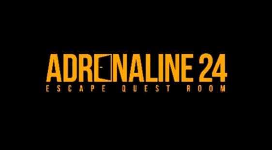 Логотип Adrenaline24 - огранизатора квестов в реальности, живых квестов - вырбраться из комнаты в городе Москва
