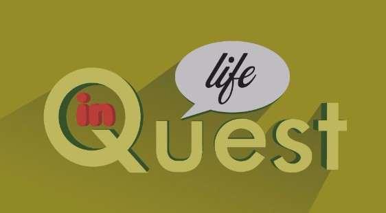 Логотип InQuestLife - огранизатора квестов в реальности, живых квестов - вырбраться из комнаты в городе Москва