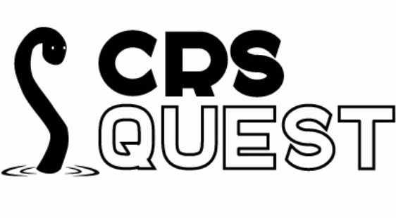Логотип CRSQUEST - огранизатора квестов в реальности, живых квестов - вырбраться из комнаты в городе Москва