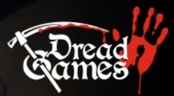 Логотип DreadGames - огранизатора квестов в реальности, живых квестов - вырбраться из комнаты в городе Москва